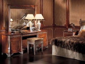 164, Specchiera rettangolare classica di lusso, per hotel
