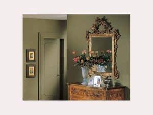 3265 SPECCHIO, Specchio rettangolare classico, intagli fatti a mano