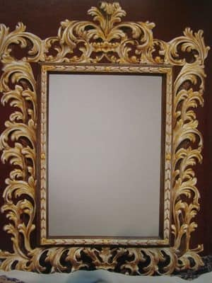 Specchio intagliato art 101g for Galimberti case legno