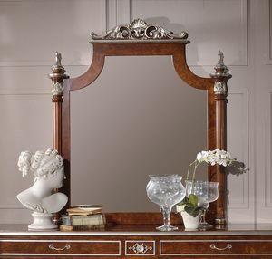 Art. 2090, Specchiera con intagli foglia argento
