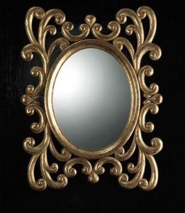 Art. 20900, Specchiera ovale con cornice intagliata