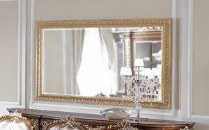 ART. 3059, Specchiera con cornice foglia oro