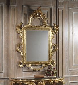 Art. 660 specchiera, Maestosa specchiera intagliata, finitura oro