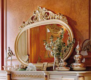 Art. 810T/S, Specchiera ovale classica, con cornice intagliata