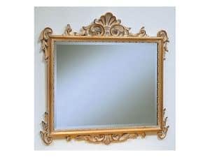 Art. 811, Specchio classico di lusso, finitura decapè, per albergo