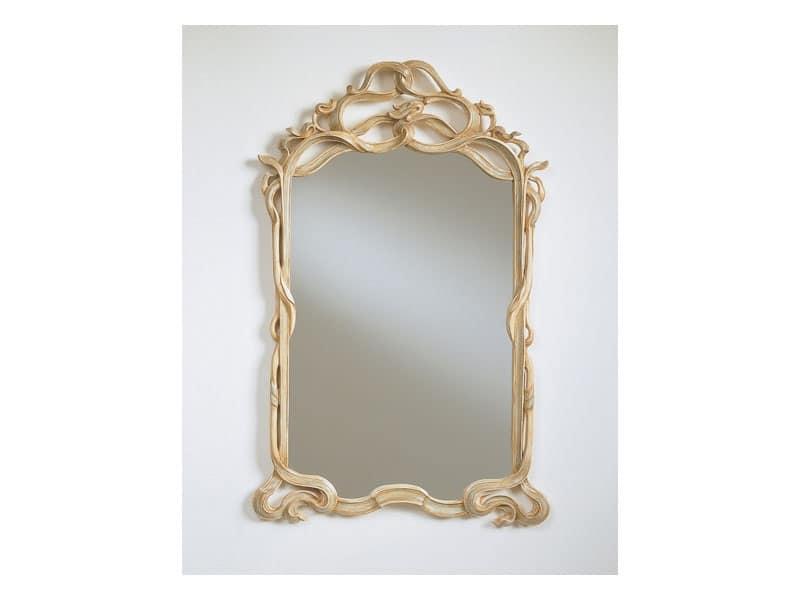 Art. 925, Specchio classico, cornice intagliata, per ristorante