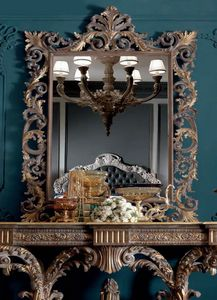 Barocchetto Art. SPE06, Specchiera in stile barocco, con intagli