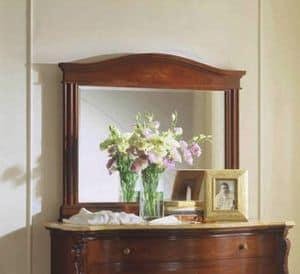 Canova specchiera, Specchio rettangolare classico, con vetro molato