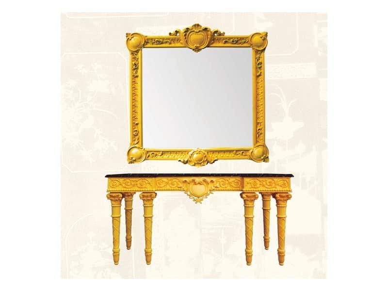 Cornice in legno di tiglio stile classico idfdesign - Specchi classici ...