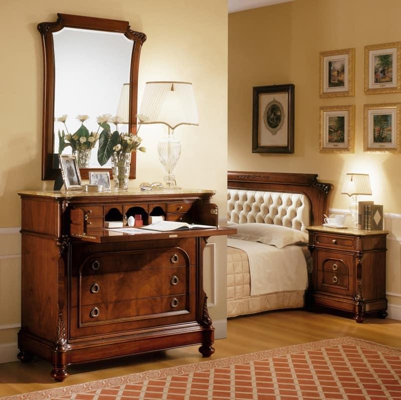 Specchiera Classica Noce Alba : Specchiera in stile classico intagli fatti a mano idfdesign