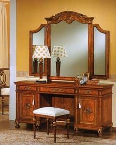 DUCALE DUCSP3E / Specchiera a 3 elementi, Specchiera per camera da letto, con due specchi laterali