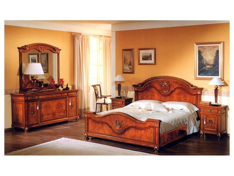 Specchiera per camera da letto con cornice in legno - Specchi per camera da letto classica ...