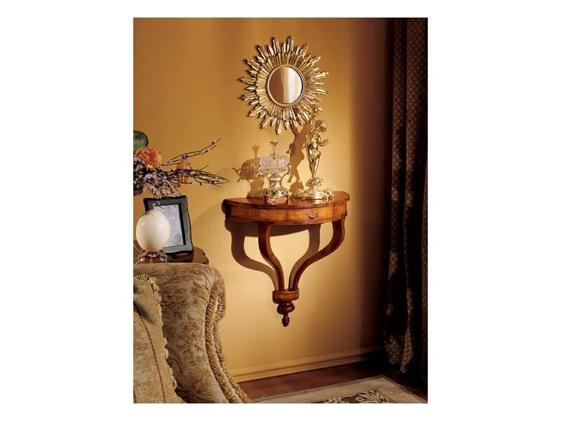 Specchio da parete a forma di sole idfdesign - Consolle bagno classico ...