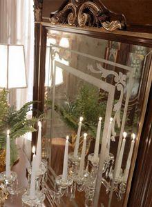Luigi XVI Art. SPE03/LU/120, Specchiera decorata a mano con oro effetto rilievo