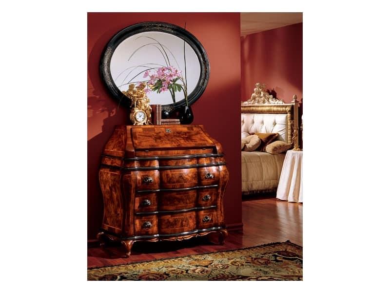 Specchiera ovale con cornice in legno classico di lusso idfdesign - Specchi in stile ...