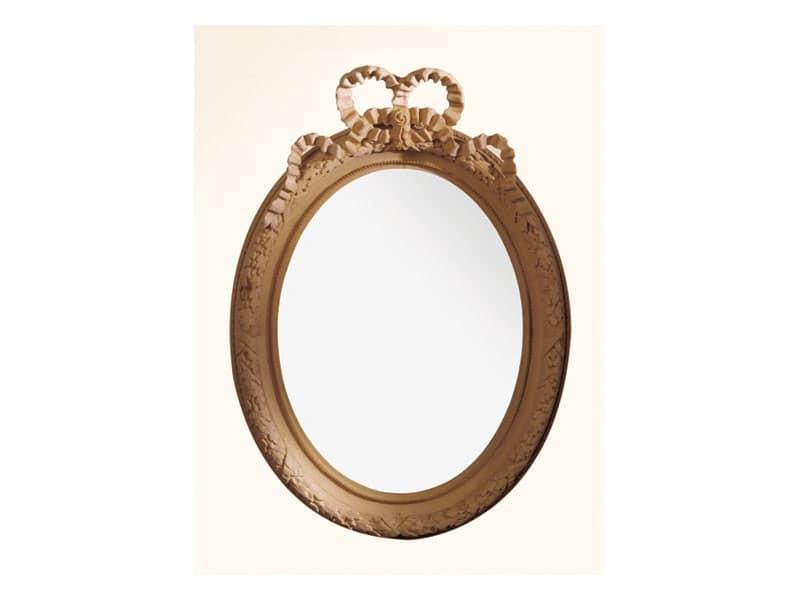 Specchiera art. 103, Specchiera con cornice in legno, stile Luigi XVI