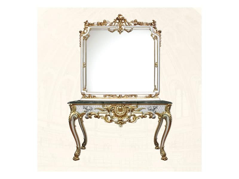 Specchiera quadrata stile luigi xv idfdesign - Specchi classici ...