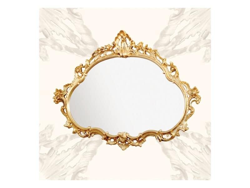 Specchiera con cornice in legno stile barocchino idfdesign - Specchi in stile ...