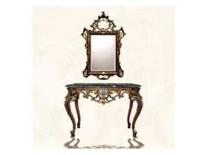 Specchiera art. 122, Specchiera rettangolare con cornice, stile Luigi XV