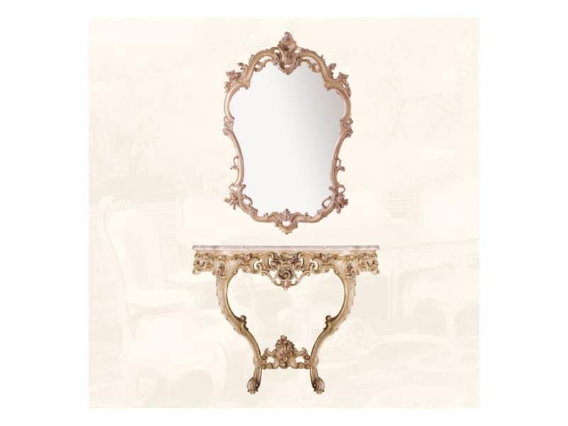 Specchiera art. 127, Specchio in stile Luigi XV, per ingressi e salotti