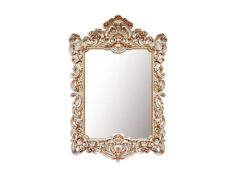 Specchio rettangolare con cornice stile barocco idfdesign - Specchio cornice nera barocca ...