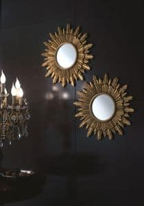 Specchiera Girasole, Specchio rotondo per ambienti residenziali e alberghi