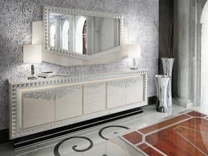 Immagine di Specchiera Las Vegas, specchio in legno