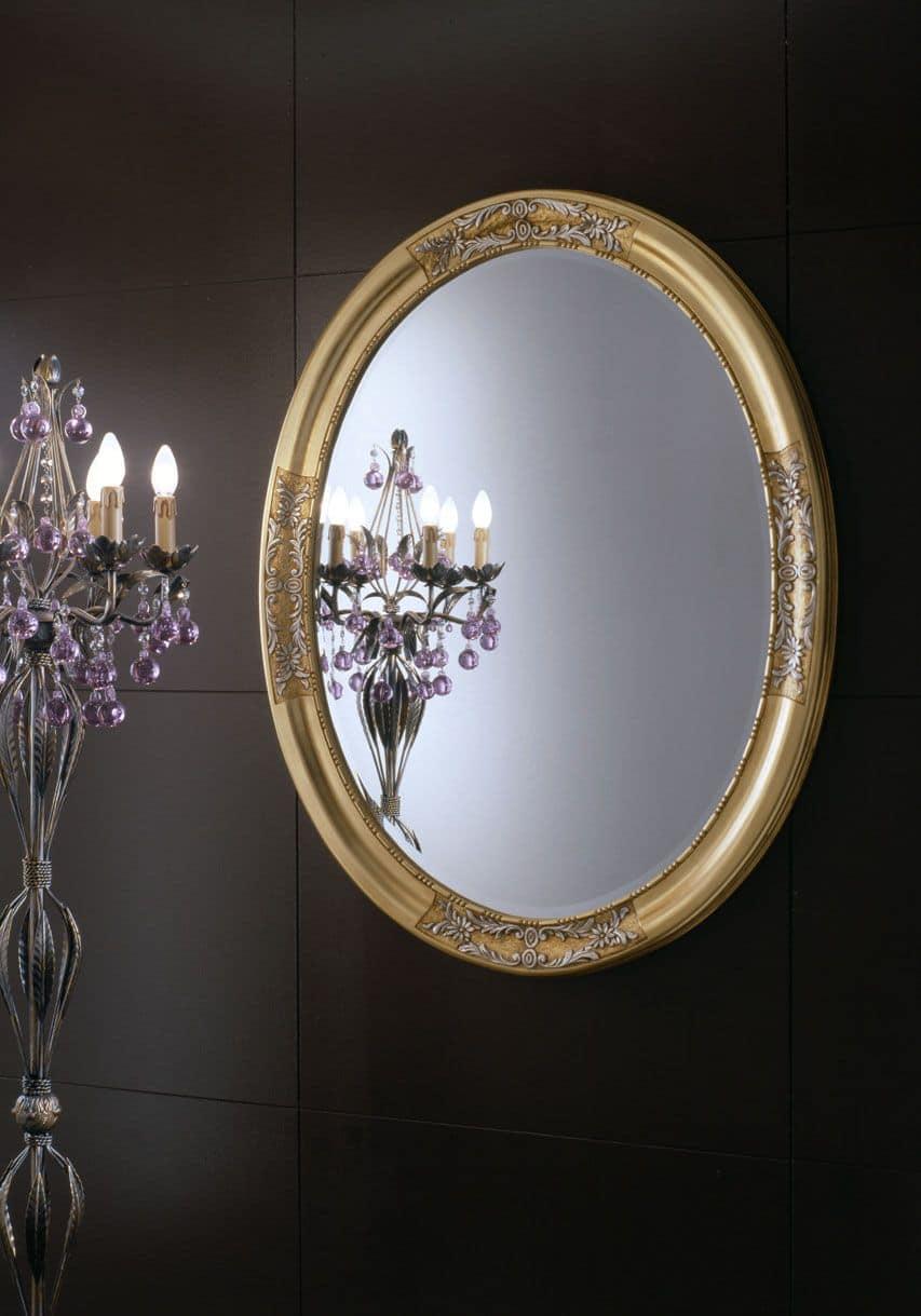 Specchio rotondo dallo stile classico idfdesign - Specchi in stile ...