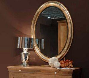 134, Specchiera da parete, con cornice in legno