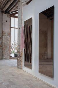 ALICANTE, Specchio rettangolare, con appendiabiti integrato, per ingresso