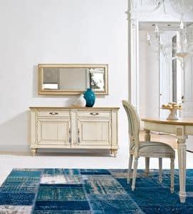 ALTAIR Art. 4959 4961, Specchio con cornice decorata, per atrio e corridoio