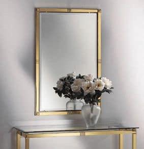 AMADEUS 3092 SPECCHIERA, Specchiera classica, in ottone lucido e ottone satinato