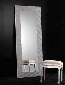 Art. 20302, Specchio rettangolare con cornice in legno