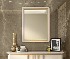 Art. 5612, Specchiera con cornice in legno laccato