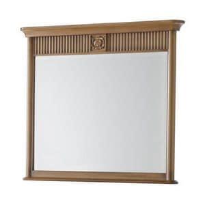 Art. CA721, Specchiera rettangolare con cornice, ideale per com�