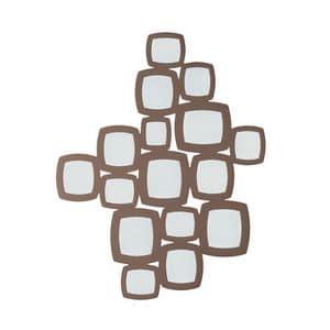Art. VL474, Ampia specchiera da parete, in legno