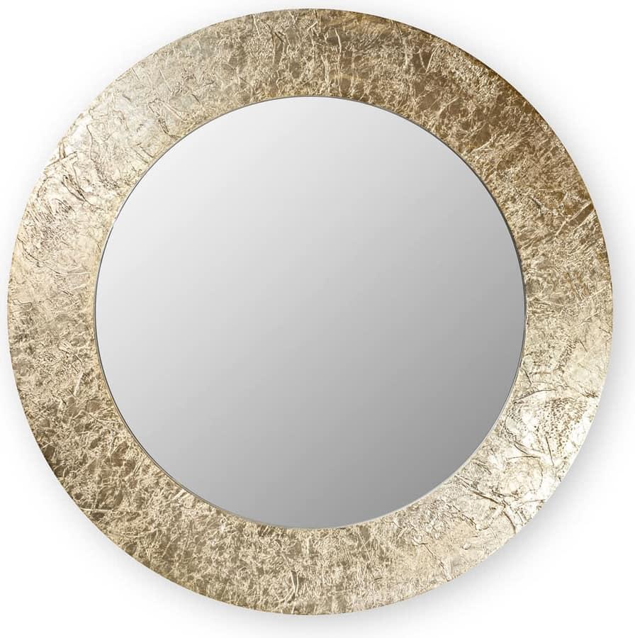 Asia round, Specchio con cornice tonda