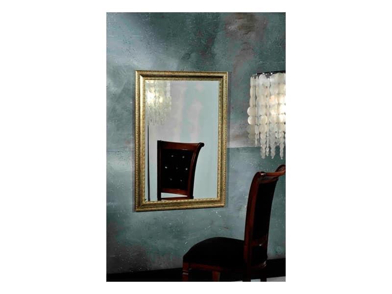 BALHAS specchio 8327M, Cornice in stile classico con finitura in fogli d'oro
