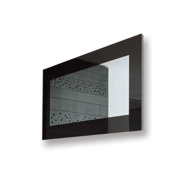 Specchio moderno con cornice laccato, per sala attesa ufficio  IDFdesign