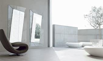 CALLAS, Specchio quadrato, in vetro curvo, per la casa