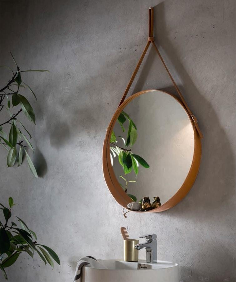 Corium, Specchio rotondo in cuoio