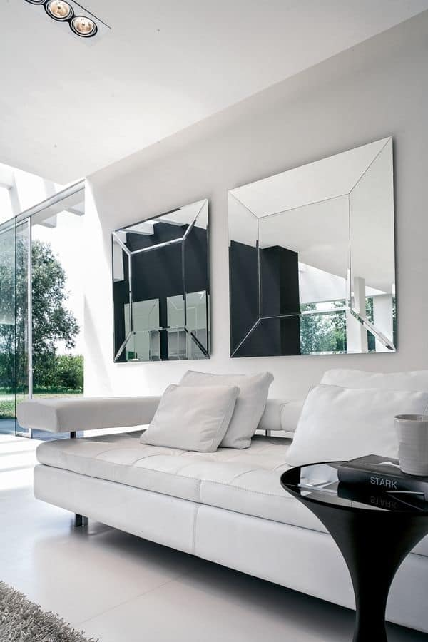 COSTANTIA, Specchio personalizzabile, per ingressi e salotti