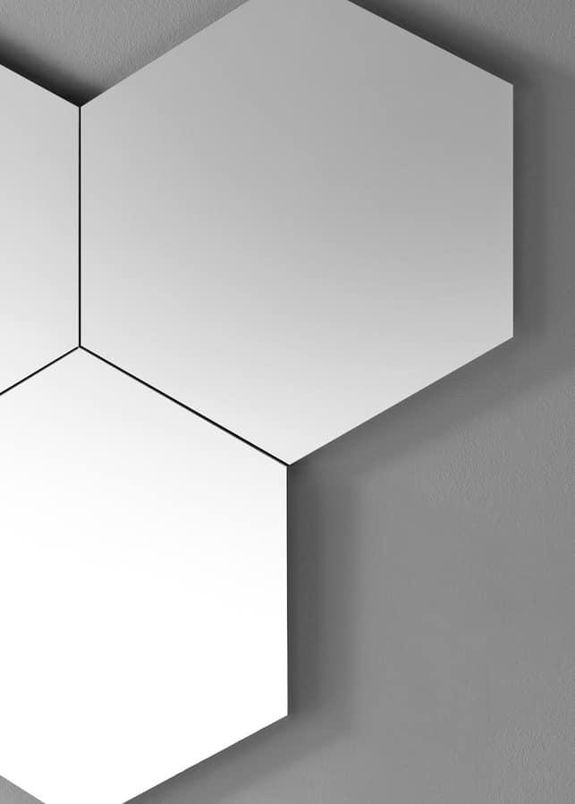 Geometrika esagonale, Specchi esagonali componibili, senza cornice