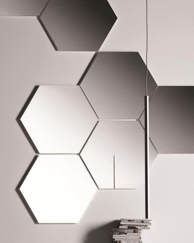 Specchi esagonali componibili senza cornice idfdesign for Amazon specchi da parete