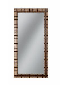 Gold specchio rettangolare, Specchio rettangolare con cornice