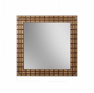Gold specchio, Specchio quadrato con cornice finitura bronzo