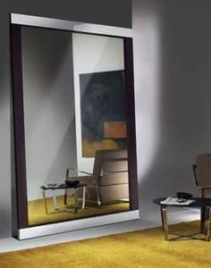 Hadaka, Specchiera design con cornice in acciaio e laminato