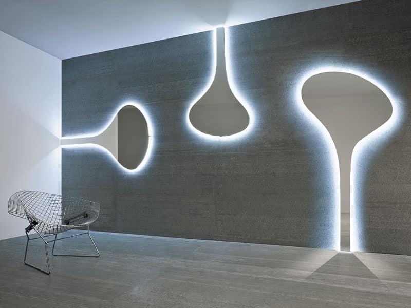 Specchi design da parete sogno immagine spaziale - Parete a specchio ...