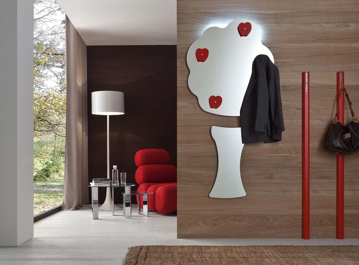 Specchio Sagomato Gatto Silvestro : Specchio moderno a forma d albero idfdesign