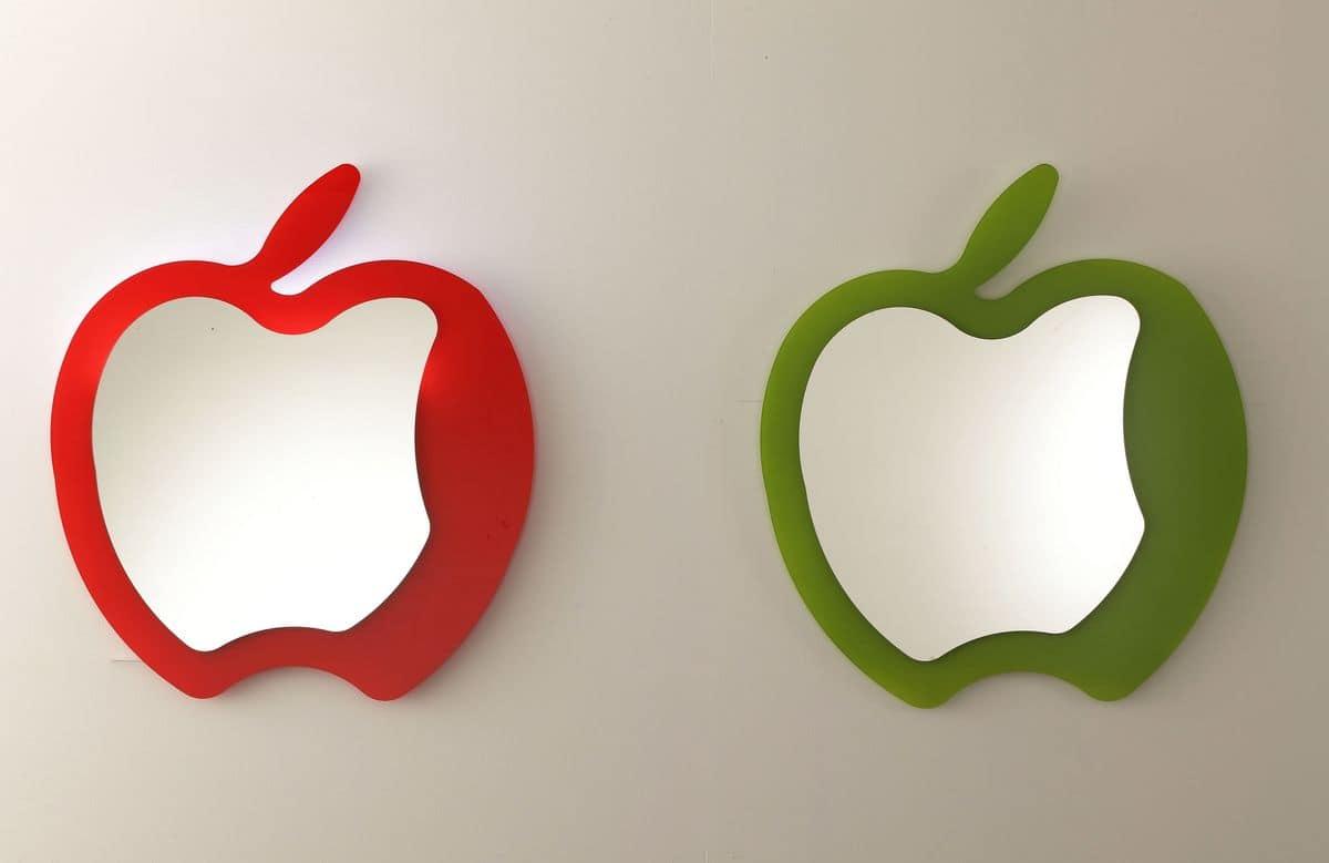 Specchio Sagomato Gatto Silvestro : Specchio moderno a forma di mela idfdesign